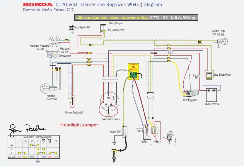 Honda Trail 70 Wiring Diagram