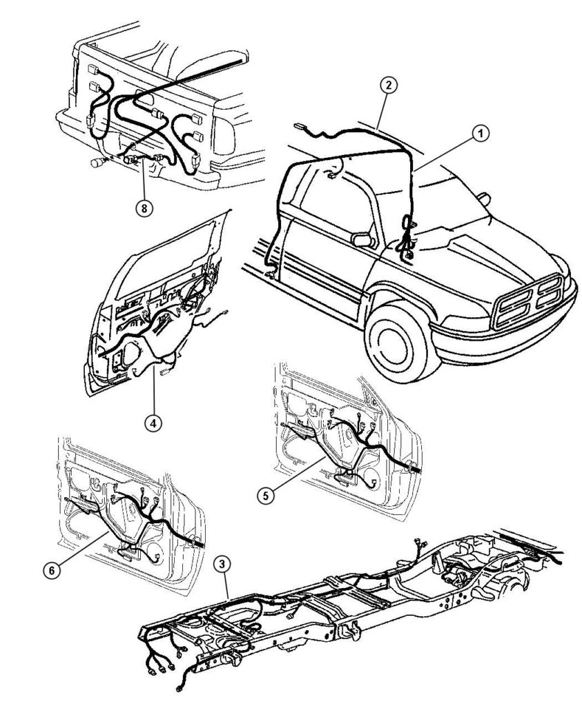 1997 Dodge Ram 1500 Wiring Trailer Tow 56021859 Mopar