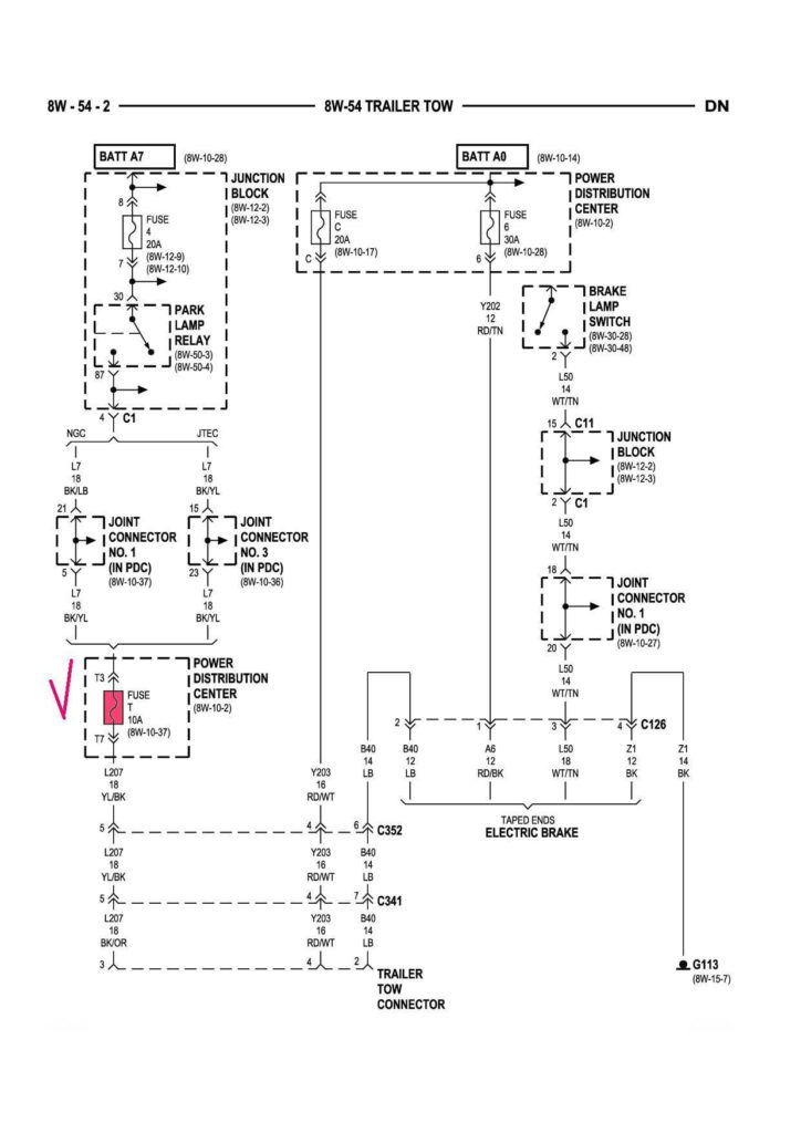 2002 Dodge Dakota Trailer Wiring Diagram Trailer Wiring