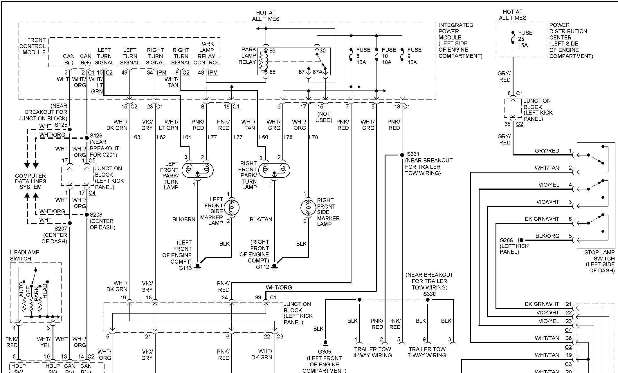 2004 Dodge Durango Trailer Wiring Diagram