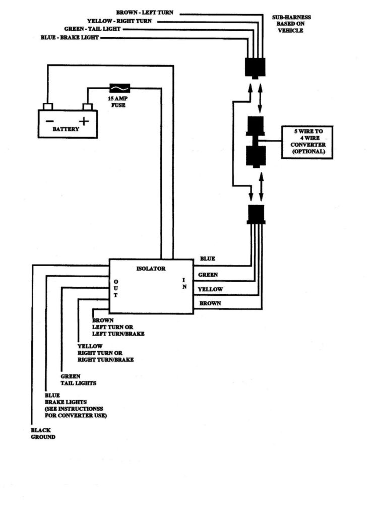 4 Wire Toyota Tacoma Trailer Wiring Diagram Electrical