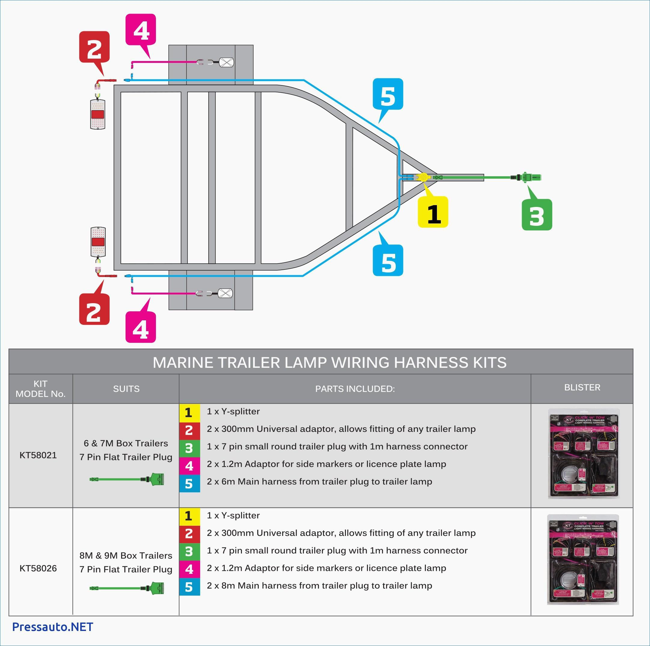 4 Way Flat Trailer Plug Wiring Diagram