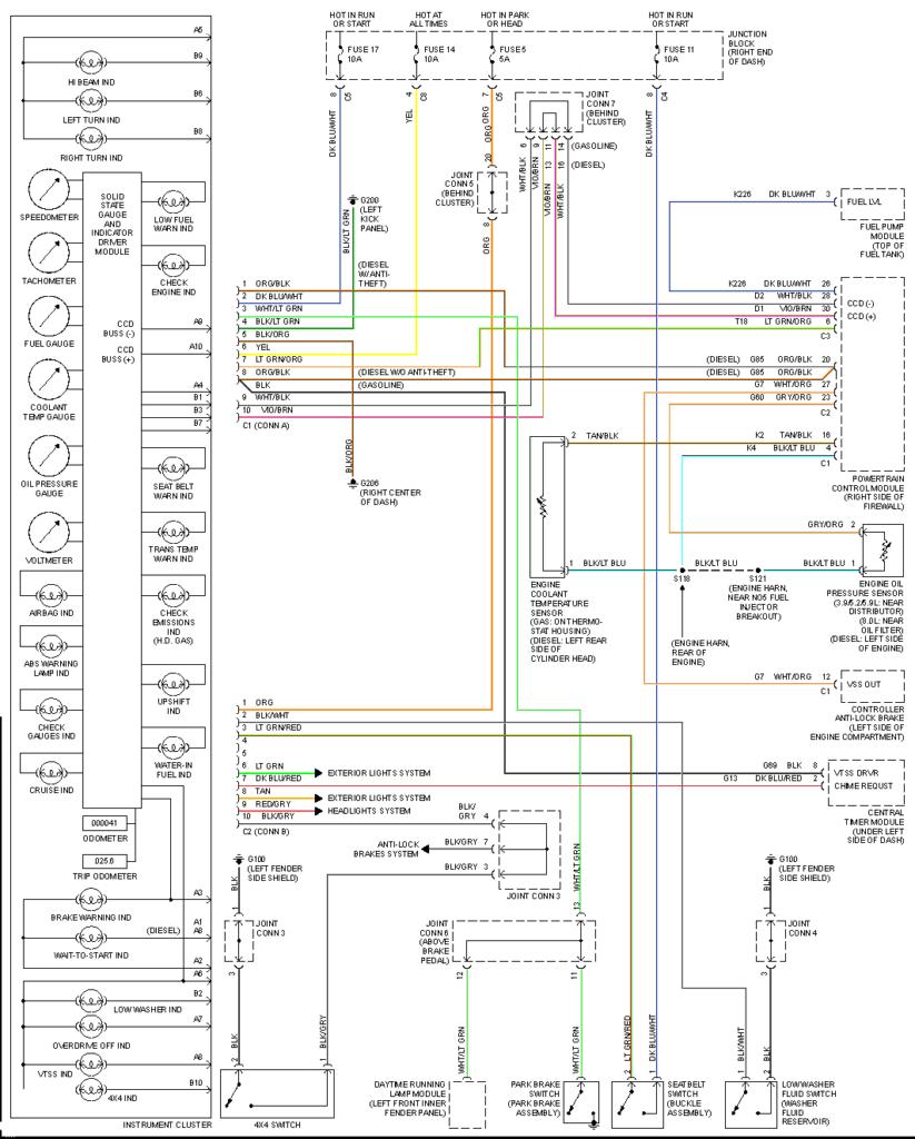 Full 2000 Dodge Ram Wiring Diagram
