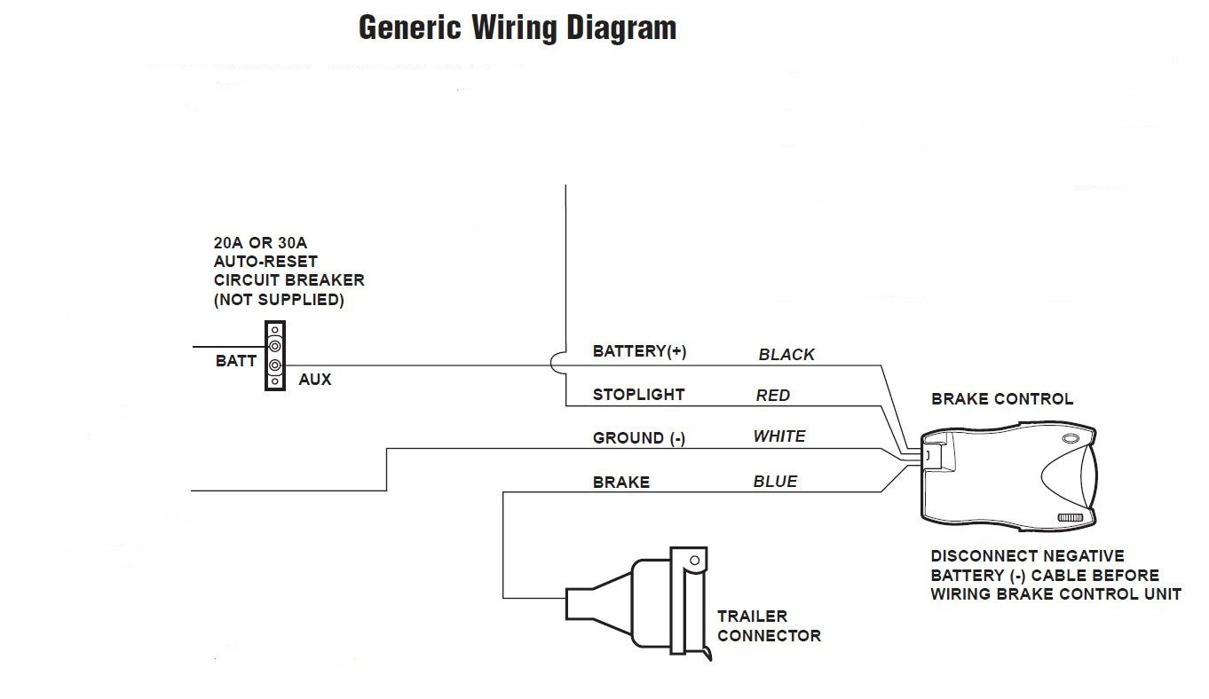 Tekonsha Trailer Brake Wiring Diagram