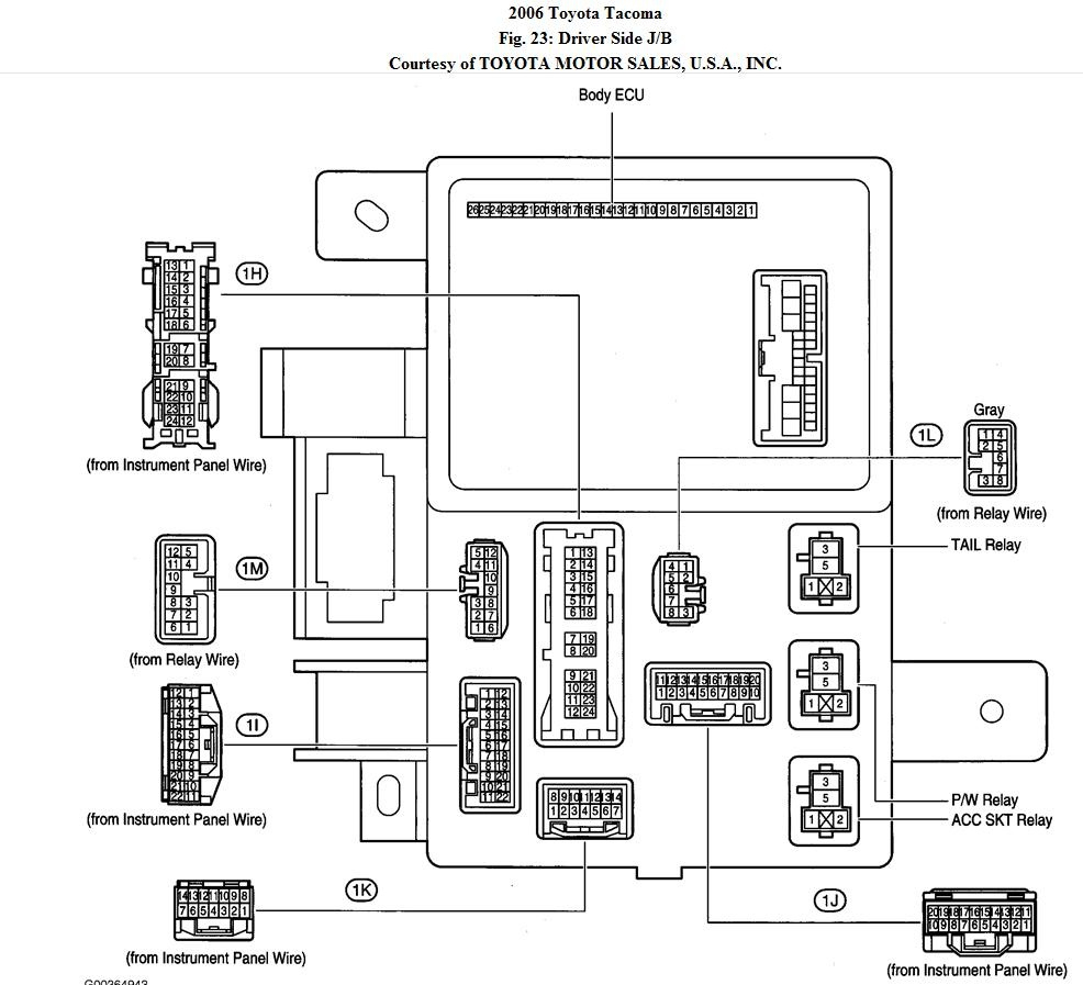 2001 Toyota Tacoma Trailer Wiring Diagram