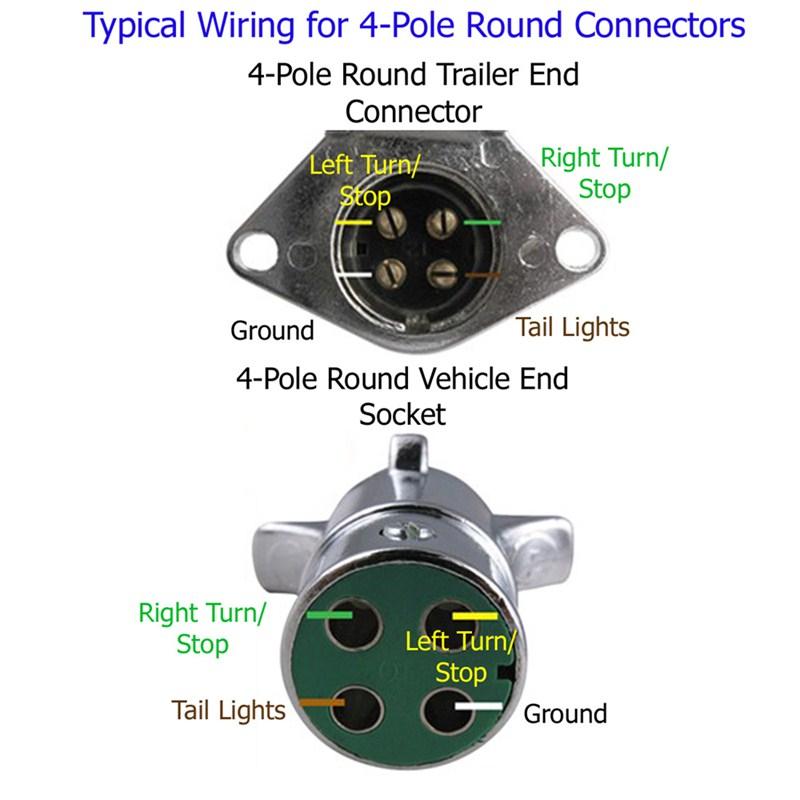 4 Pin Round Trailer Wiring Diagram