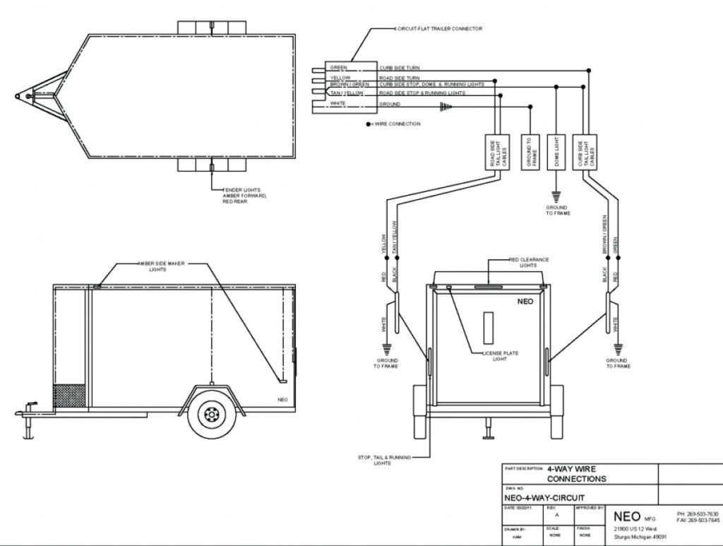 Wiring Diagram For Gooseneck Trailer Trailer Wiring Diagram