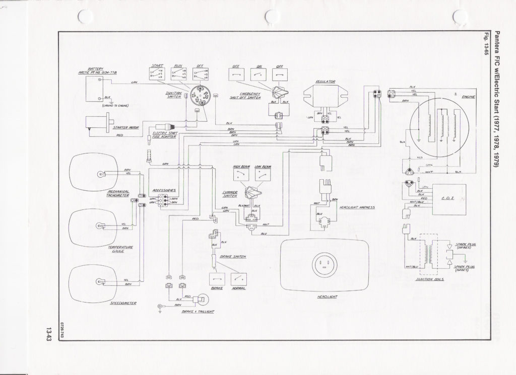 1971 Arctic Cat Wiring Diagram Wiring Library