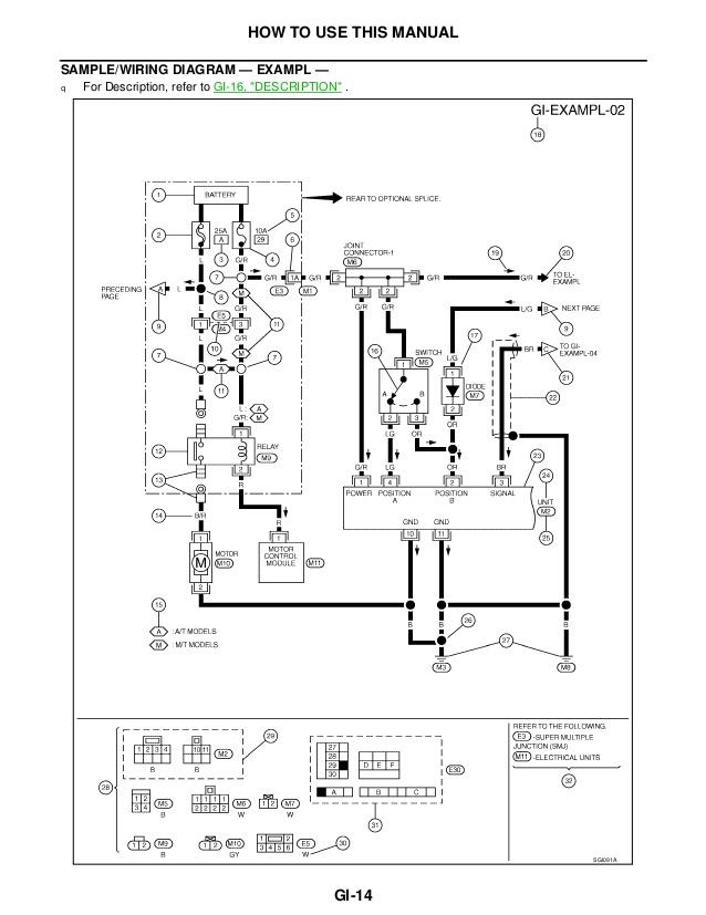 2002 Nissan X Trail Stereo Wiring Diagram