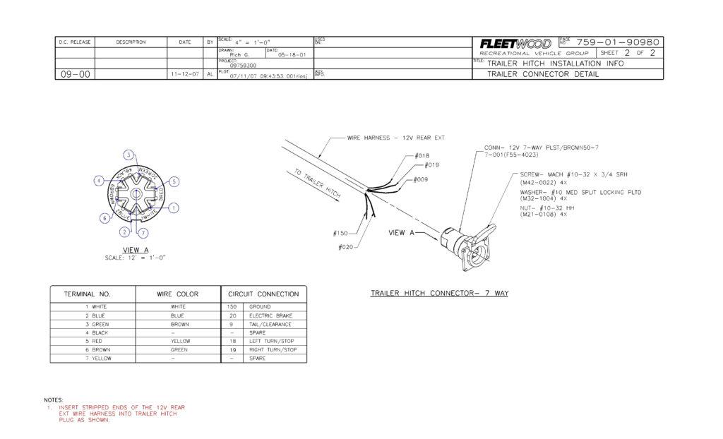 Bargman 7 Way Trailer Wiring Diagram Trailer Wiring Diagram