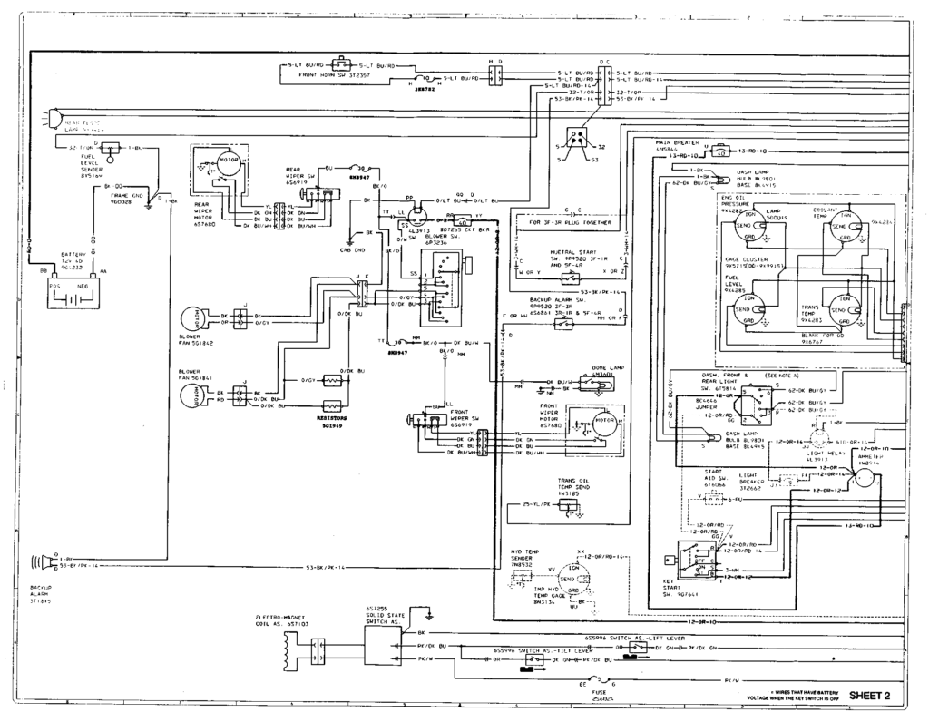 Can You Show Me A Wiring Diagram For A Cat D5C Dozer I Am