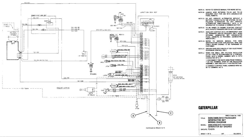 Cat 3406c Generator Wiring Diagram Wiring Diagram