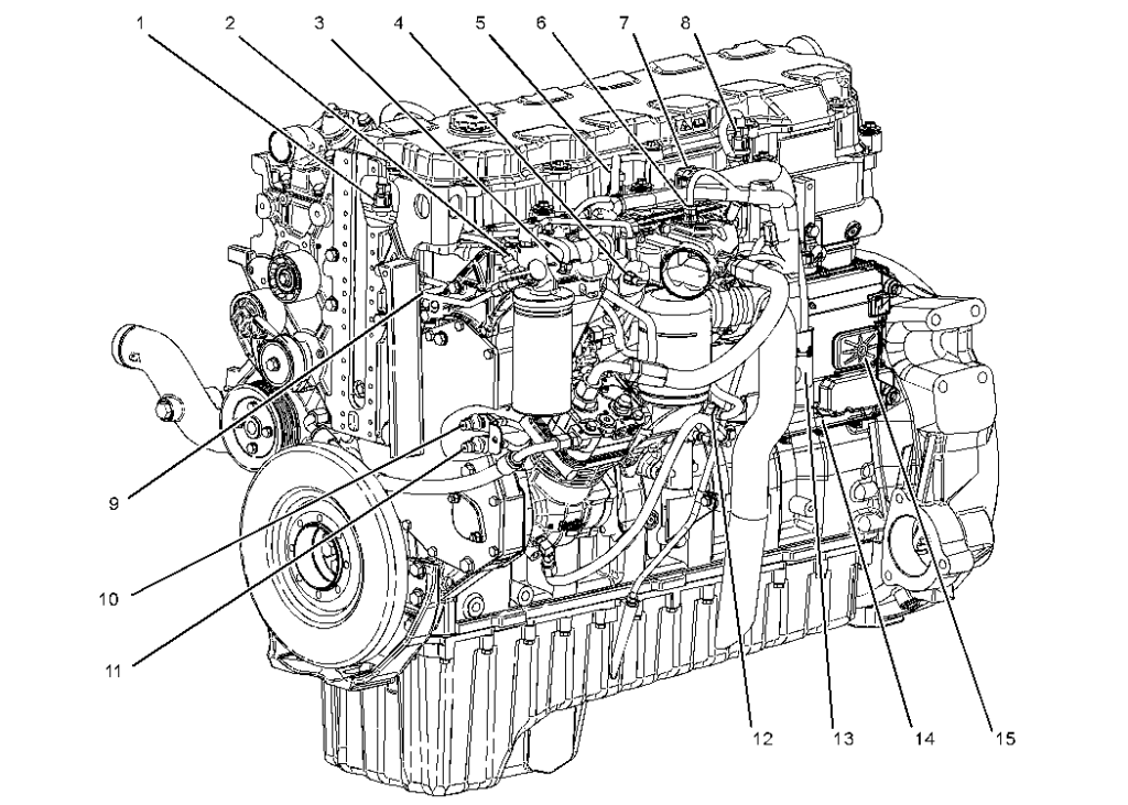 Sensors And Electrical Connectors C7 And C9 Engines For