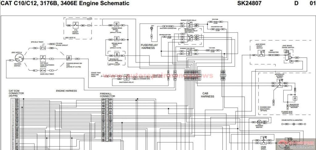 Wiring Diagram Cat 3406 Ecm Caterpillar 3406e Throughout