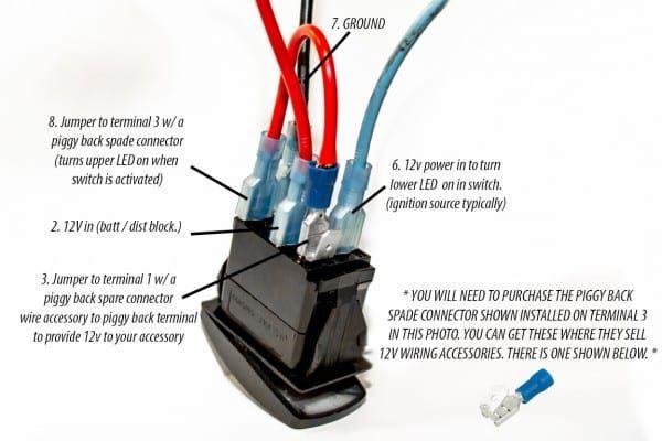 12x Round 12v Blue Led Rocker Switch Toggle Car Spst Ebay