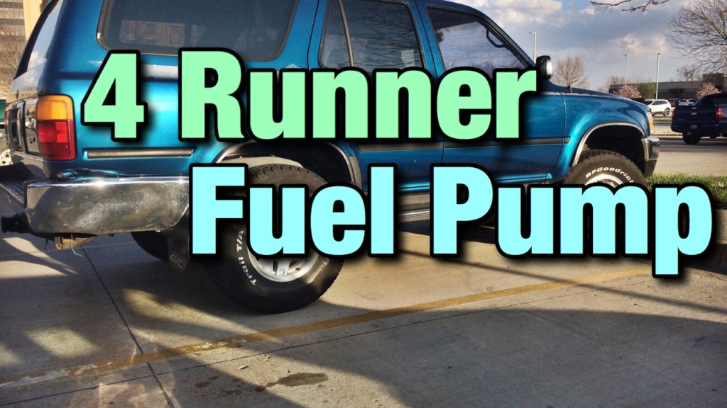 1993 Toyota 4 Runner Fuel Pump Replacement YouTube