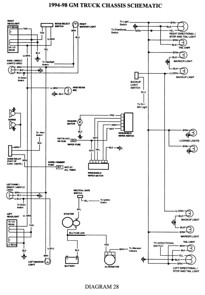 1998 Chevy Silverado Wiring Diagram Free Wiring Diagram