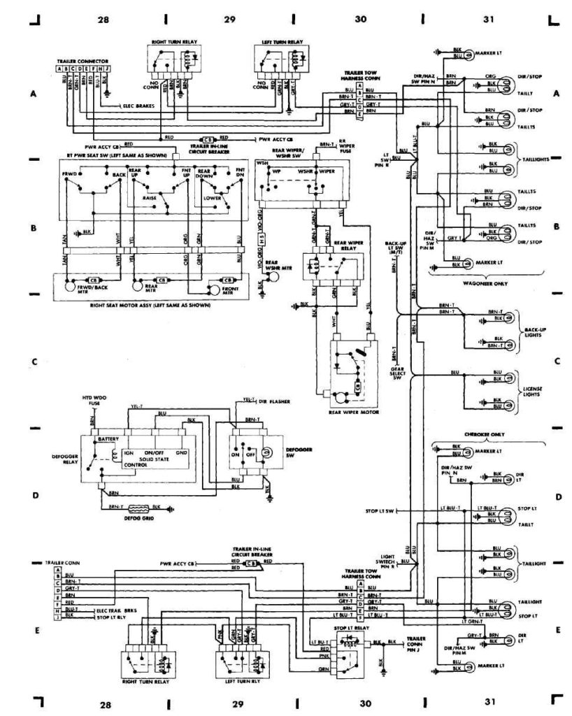 1999 Jeep Grand Cherokee Wiring Diagram Schematic And