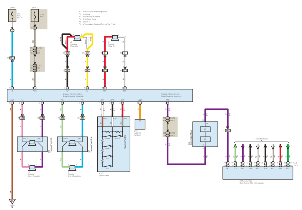 2000 Toyotum Corolla Radio Wiring Diagram Schematic
