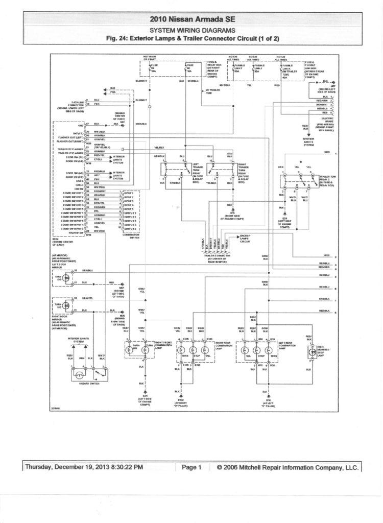 2006 Nissan Frontier Trailer Wiring Diagram Free Wiring
