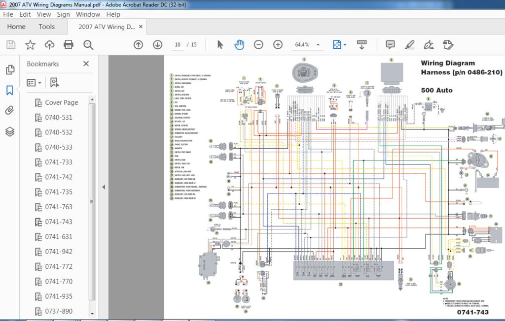 2007 Arctic Cat ATV Wiring Diagrams Manual PDF DOWNLOAD