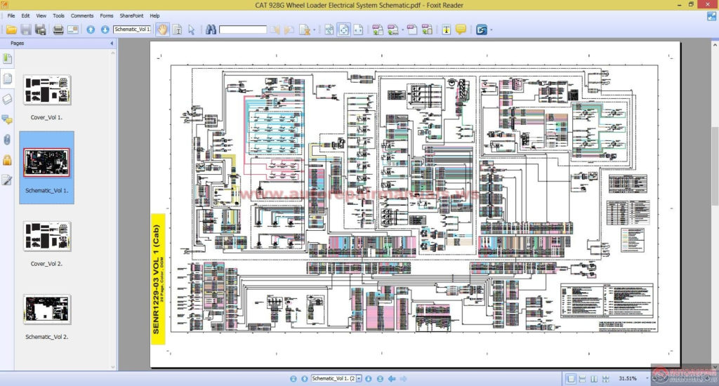 CAT 928G Wheel Loader Electrical System Schematic Auto