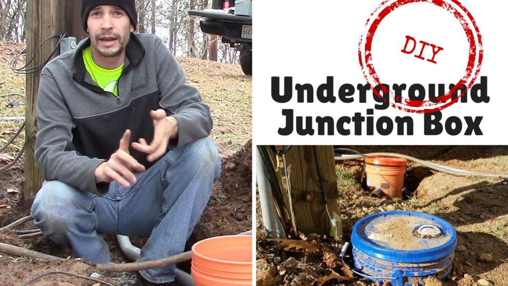 DIY Underground Junction Box YouTube