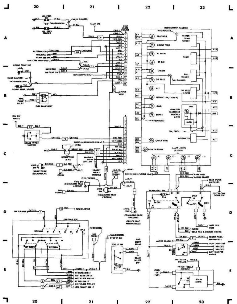 1998 Jeep Grand Cherokee 4, Jeep Cherokee Wiring Diagram