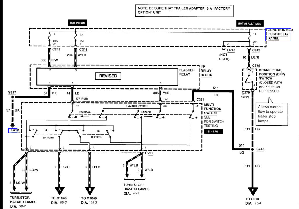 Ford F250 Wiring Diagram For Trailer Lights Trailer