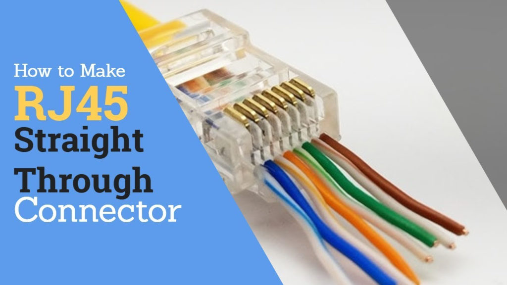 How To Make RJ45 Straight Through Connector CAT5e YouTube