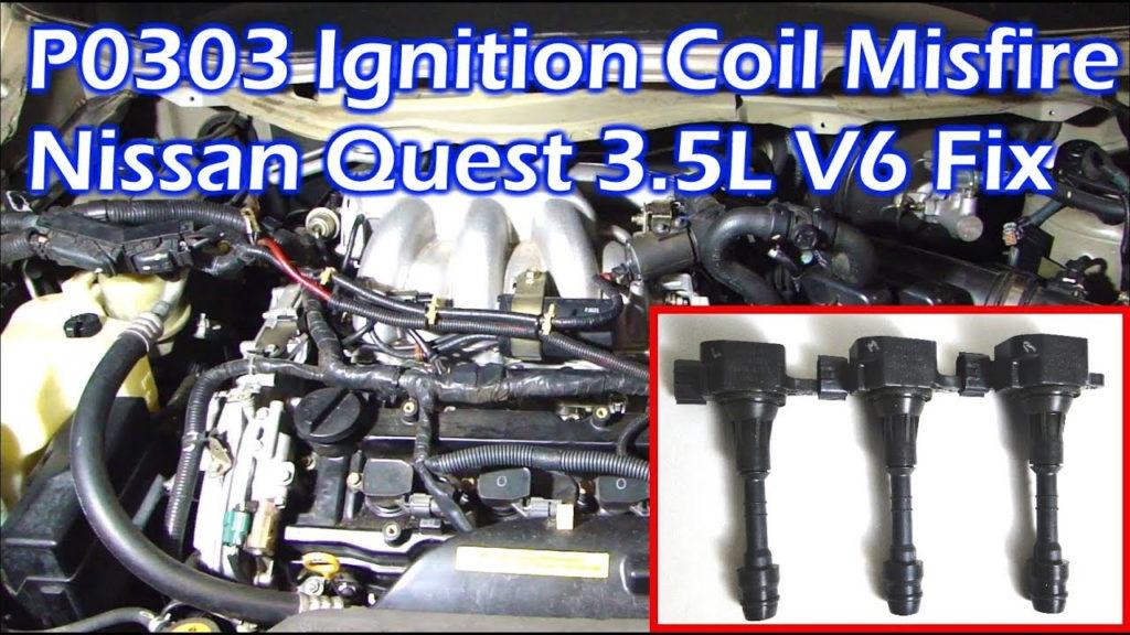 Nissan 3 5L V6 Ignition Coil Misfire P0303 Cylinder 3