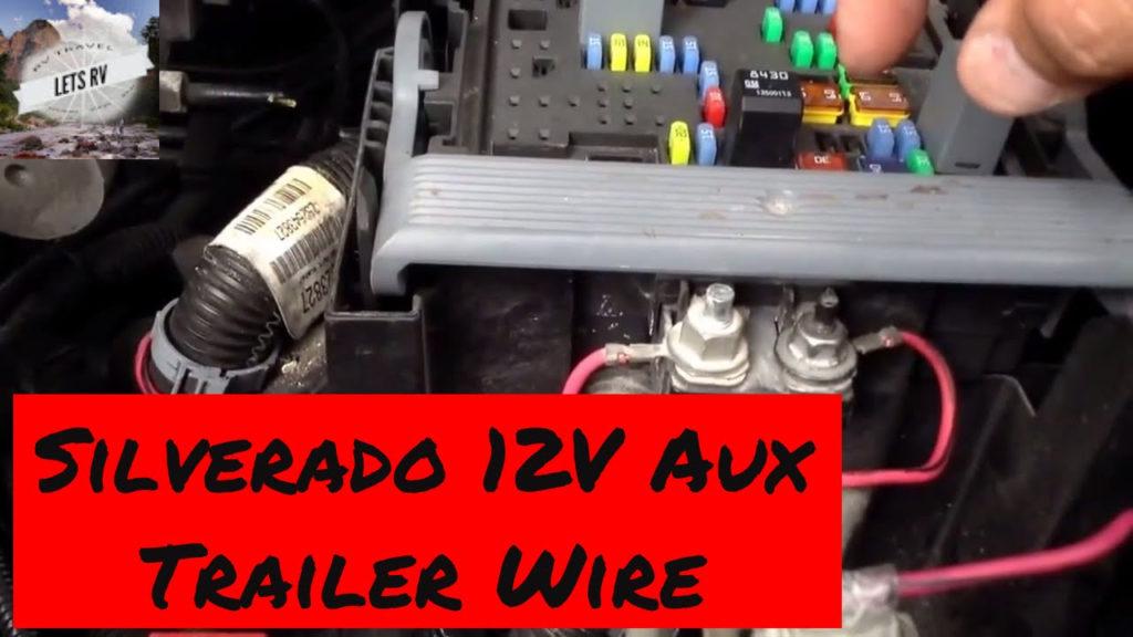 Trailer Power Wiring 2007 To 2013 Chevy Silverado 12 Volt