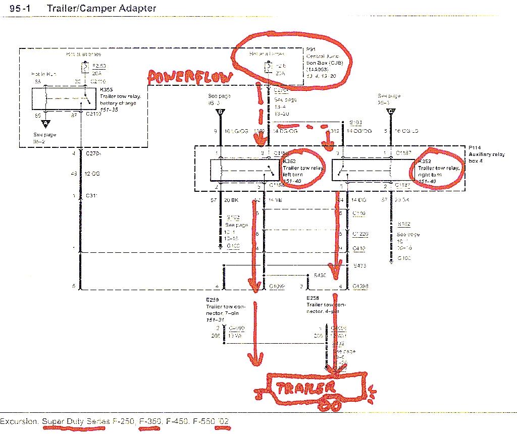 2002 F350 Trailer Wiring Harness Diagram